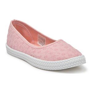 Precious Embroidered Comfort Flat Ballet NWT